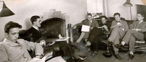 Men in the Meiklejohn House Den